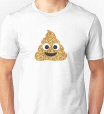 Funny Hilarious Glitter Gold Poop Emoji Texting Vibes  Unisex T-Shirt