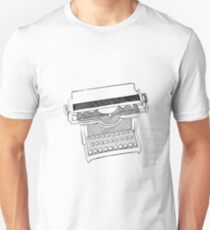 The typewriter of the past Unisex T-Shirt