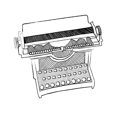 The typewriter of the past by DeerFutureMe