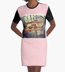 CRAPPIE FISHIN' AND RODENT HUNTIN' LODGE, LOCAL 17, Photo, for prints and products Graphic T-Shirt Dress