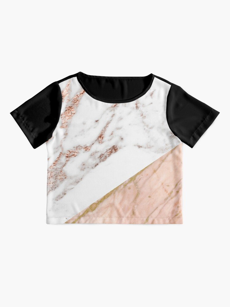 Alternate view of Rose gold marble blended Chiffon Top