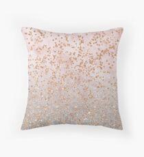 Mixed rose gold glitter gradients Floor Pillow