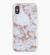 Intense rose gold marble iPhone Case