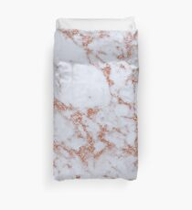 Intense rose gold marble Duvet Cover