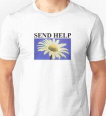 send help design black Unisex T-Shirt
