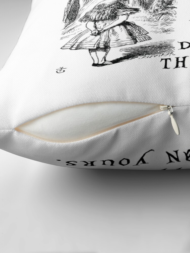 Alternate view of I'm not crazy Throw Pillow