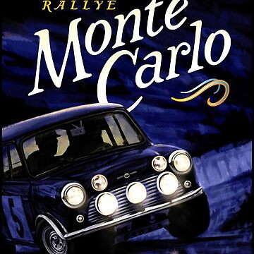 MONTE CARLO : Vintage 1947 Auto Rallye Advertising Print by posterbobs