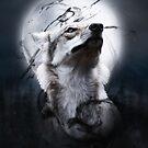Der Wolf und der Mond von Destroyed-Pixel
