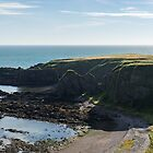Rough and Ragged - North Sea Cliffs in Aberdeenshire Scotland  by Georgia Mizuleva