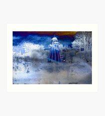 Winters ride Art Print