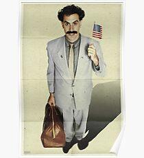 borat, sacha baron cohen, movie poster Poster