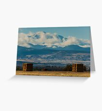Longs Peak Above The Clouds Greeting Card