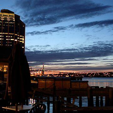 Halifax Harbour Evening by frostwhiteraven