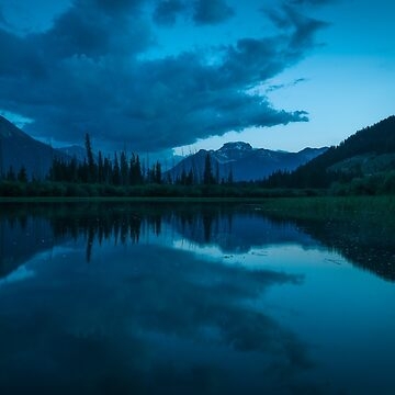 Twilight at Two Jacks Lake, Canada by mattmacpherson
