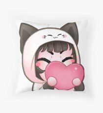 HUG Emote (Choco-Berri) Throw Pillow