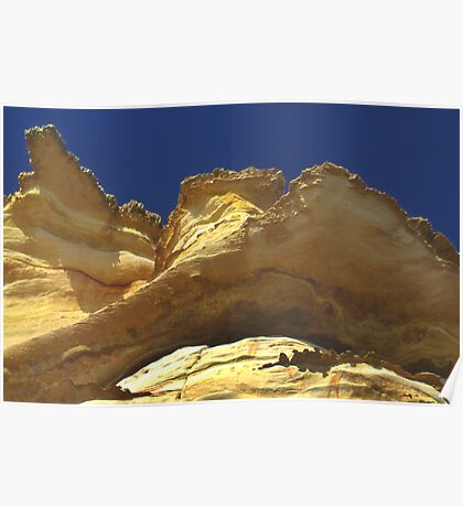 Red Bluff Kalbarri WA Poster