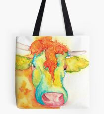 Susie, Watercolor Cow Tote Bag