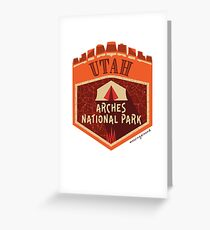 Love Utah Great Outdoors with Beautiful Arches National Park Greeting Card