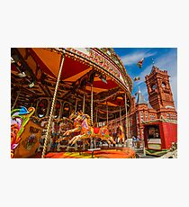 Pierhead Building and Carousel, Cardiff, south Wales. UK Photographic Print