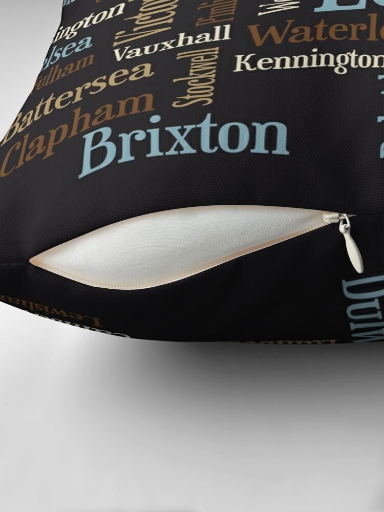 Alternative Ansicht von London Text typografische Karte Bodenkissen