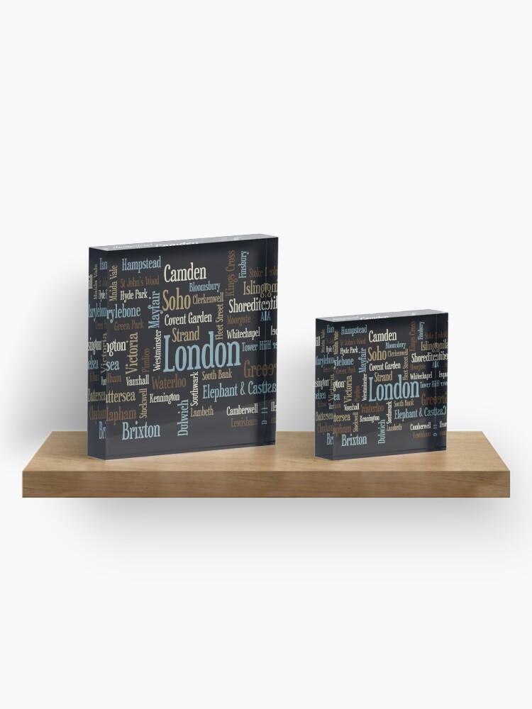 Alternative Ansicht von London Text typografische Karte Acrylblock