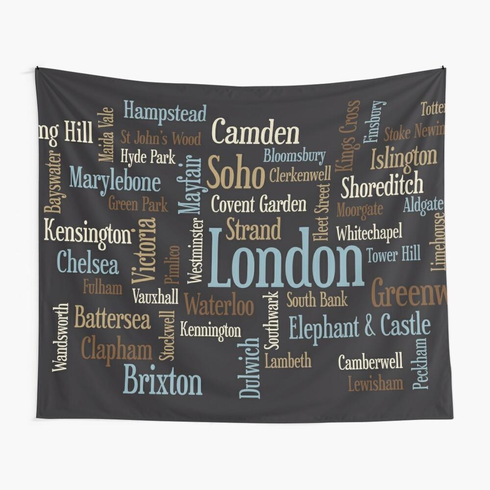 London Text typografische Karte Wandbehang