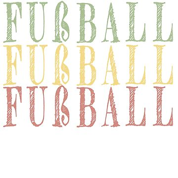 German Fußball vintage design by jhussar