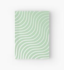 Cuaderno de tapa dura Bigotes - Verde claro y blanco # 440