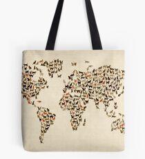 Katzen Karte der Weltkarte Tote Bag