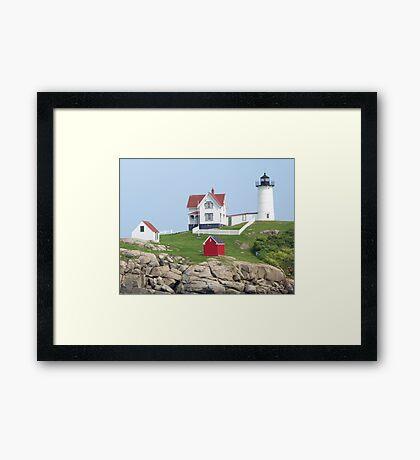 Cape Neddick Light. Framed Print