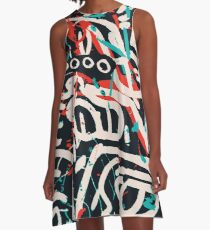 Street Art Graffiti Pattern Ink and Posca  A-Line Dress