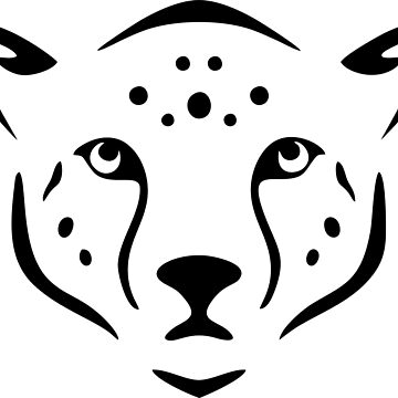 jaguar or cheetah line art head by asepsarifudin09