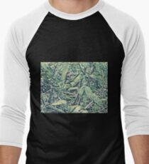 Spot the Monkey? - choose your style - jungle green Men's Baseball ¾ T-Shirt