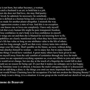 Simone de Beauvoir Quotes by qqqueiru