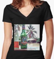 Julbrew - the beer of Gambia in paradise version 2 Women's Fitted V-Neck T-Shirt