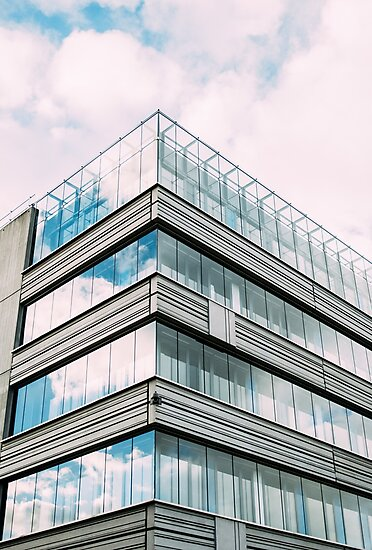 Modern Glass Building Facade by PatiDesigns
