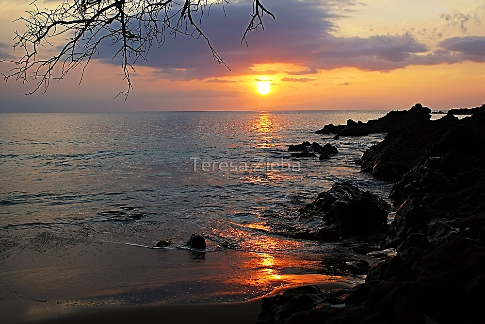 Makena Landing Sunset by Teresa Zieba