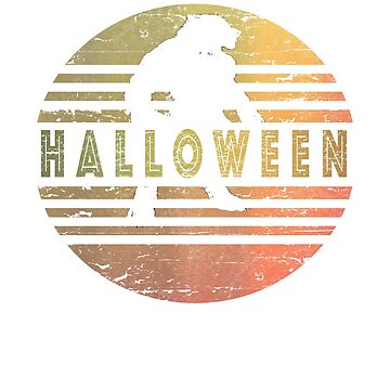 Halloween werewolf retro design  by jhussar