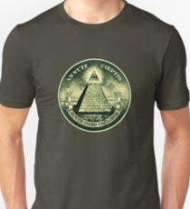 All seeing eye, pyramid, dollar, freemason, god Slim Fit T-Shirt