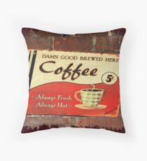 Damn Good Coffee Throw Pillow