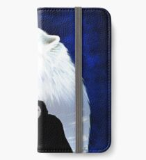 the wolf in the snow iPhone Wallet/Case/Skin