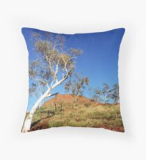 Ghost gum landscape Throw Pillow