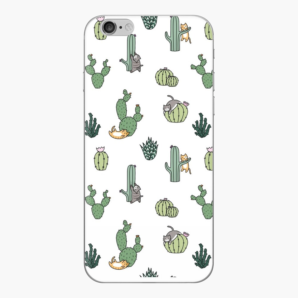 Cacti Cats iPhone Skin