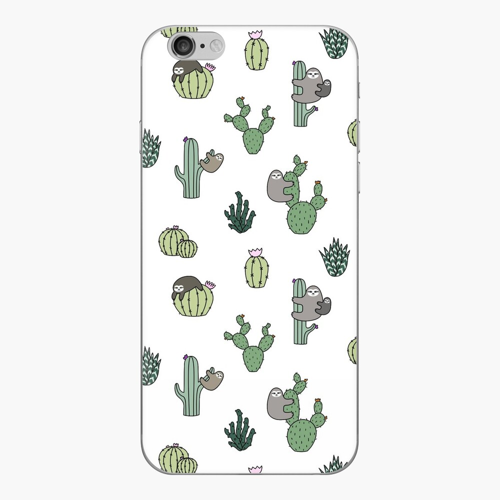 Cacti Sloths iPhone Skin
