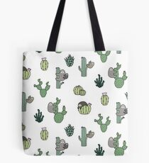 Cacti Sloths Tote Bag
