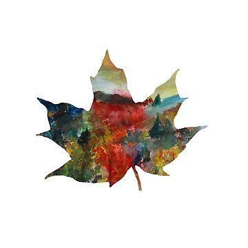 Autumn Leaf Art  by Manitarka