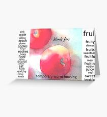 Words for Fruit Greeting Card