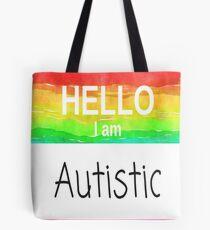 Hello I Am Autistic Design  Tote Bag