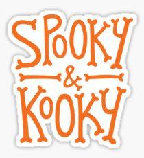 Spooky & Kooky (orange) Sticker
