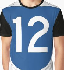 Australian State Route 12 | Australia Highway Shield Sign Graphic T-Shirt